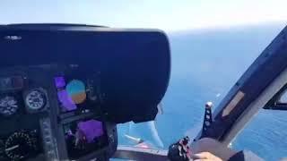 OE-XGL EC-135 landing on yacht Greece Santorini