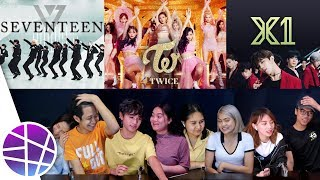 Filipinos React to Kpop VERSU2 #3 (TWICE, SEVENTEEN, X1) | EL's Planet mp3