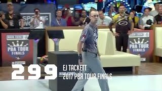 PBA Nearly Perfect | EJ Tackett Bowls 299 Game in 2017 PBA Tour Finals