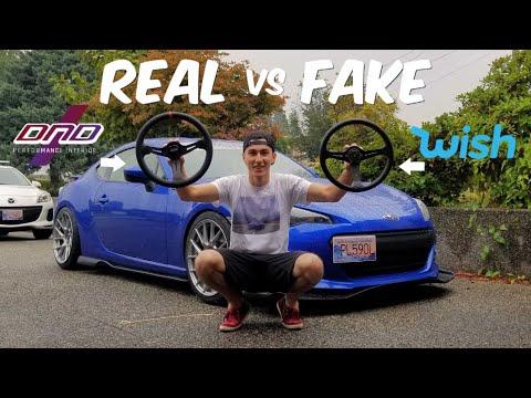 Racing Wheel Install! REAL VS FAKE WHEELS!