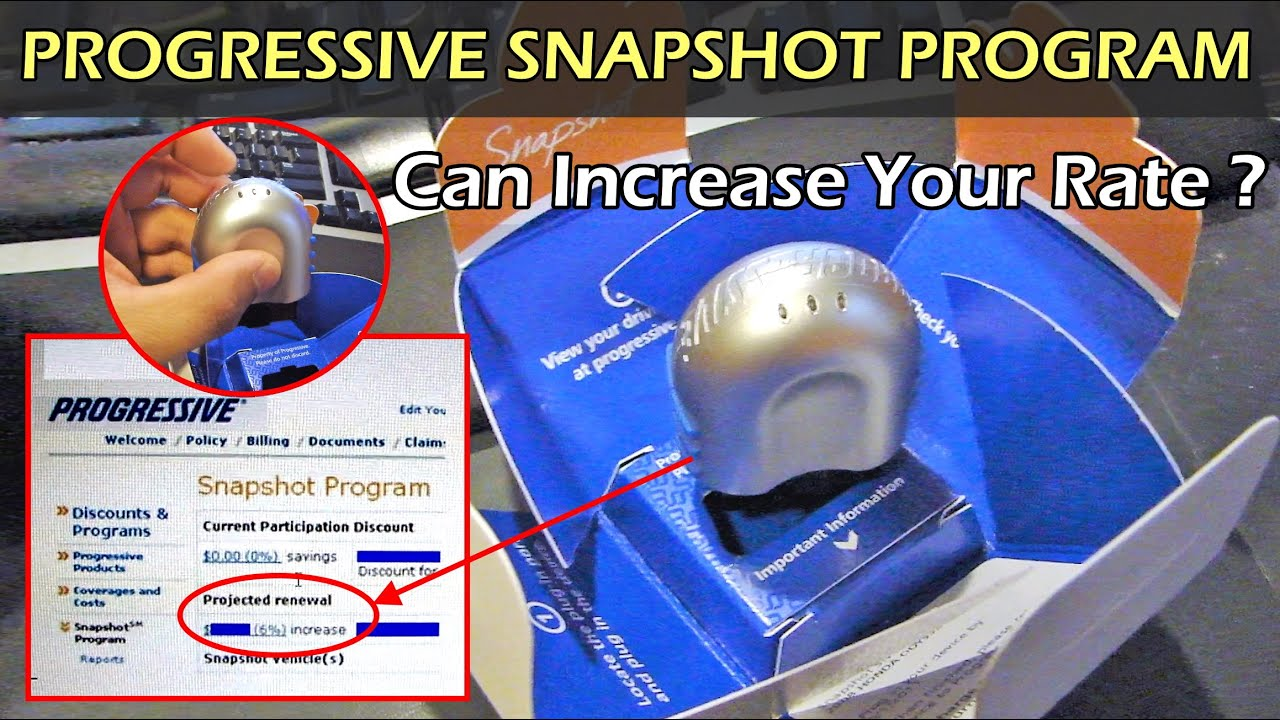 Progressive Snapshot Beeps >> Progressive Snapshot Program Can Increase Your Rate Youtube