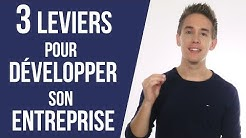 3 leviers pour DÉVELOPPER son entreprise ! - Comment développer son entreprise