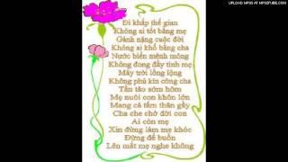 Bài Thơ Dâng Cha