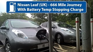 Nissan Leaf 24kw - 666 Miles with Batt Temp Stopping Charge! UK Rapid Charging