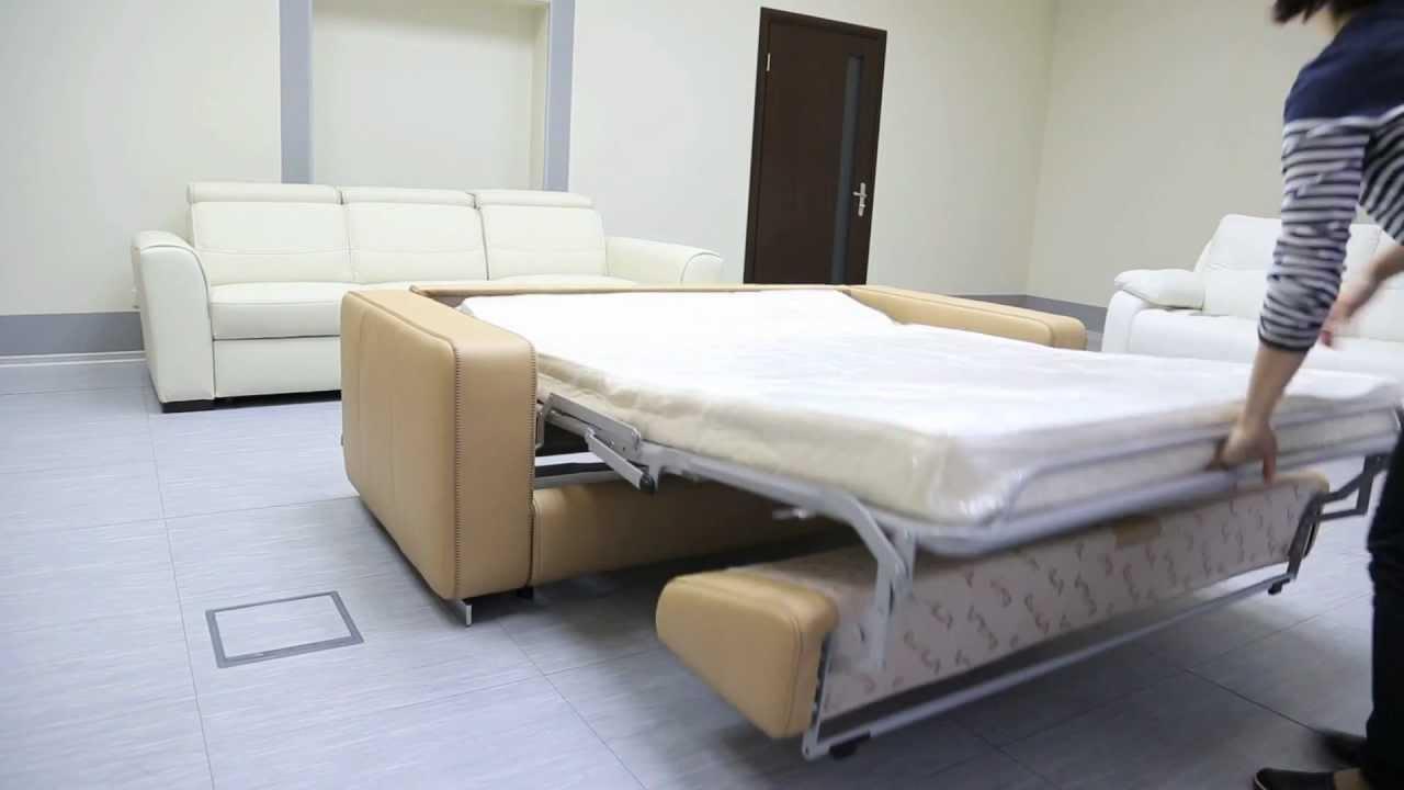 Раскладной диван на электроприводе Pozzi divani - YouTube