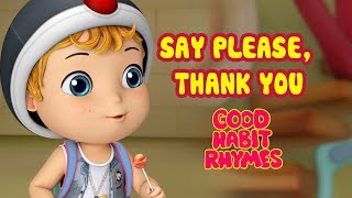 Say Please and Thank You Learn Good Habits and Manners | Rhymes for Kids | Infobells