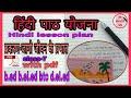 nios d.el.ed, b.ed, d.el.ed, hindi subject lesson plan