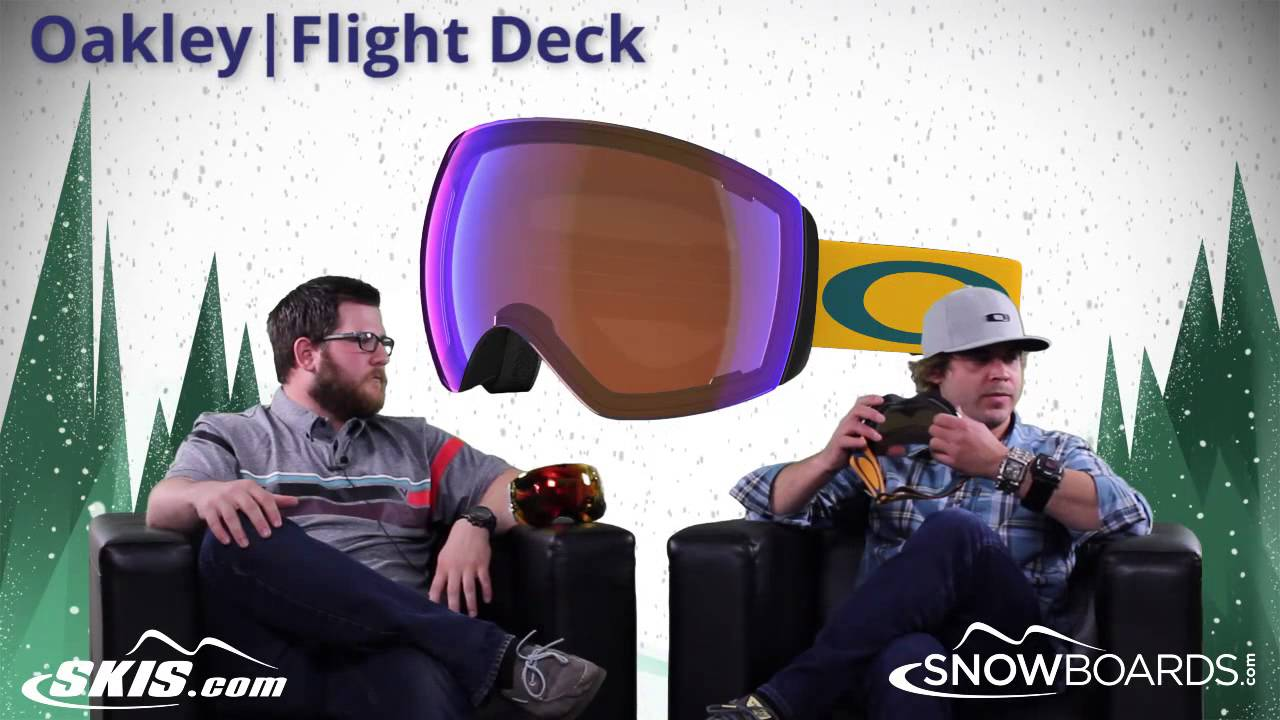 oakley flightdeck goggles  2015 Oakley Fight Deck Goggle Overview by SkisDOTcom and ...