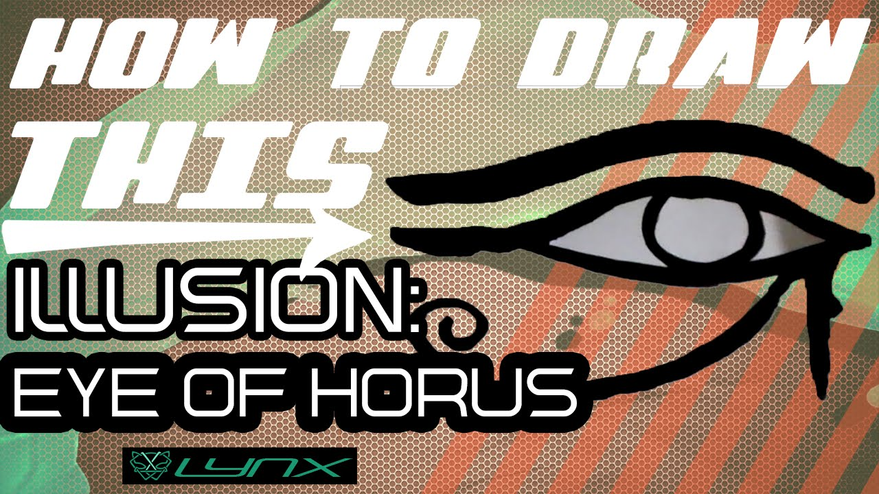 Easy Drawing Ideas How To Draw The Eye Of Horus Youtube