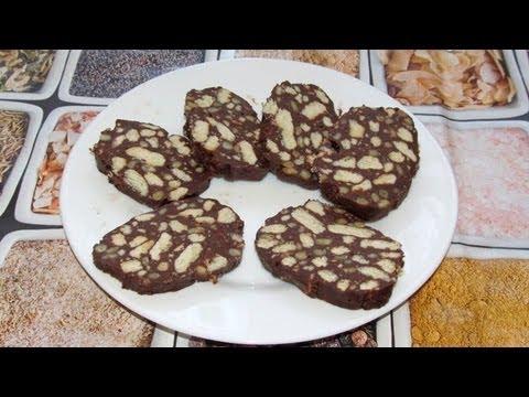 Шоколадная колбаса из печенья - Вкусно и Просто