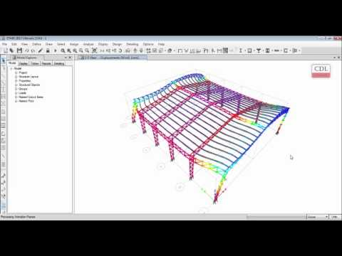 Etabs Steel Truss Factory Structure 02 02 Youtube