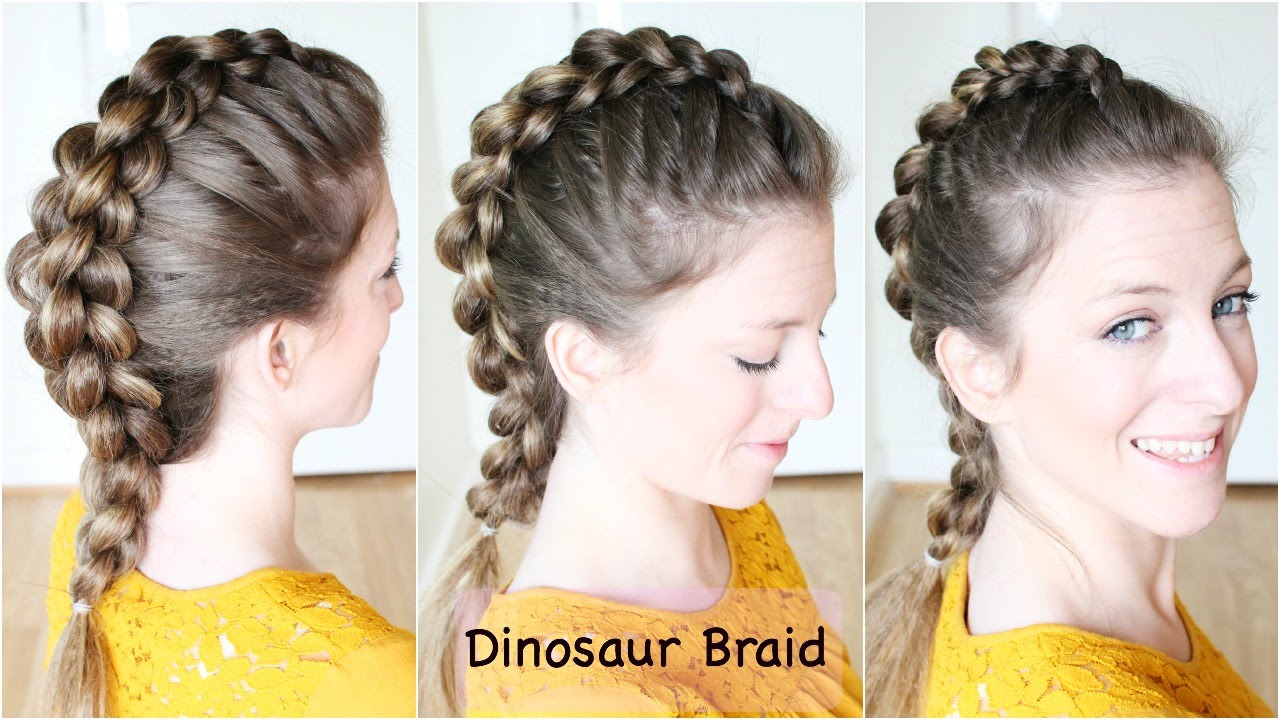 Hair Styles For Braids Pictures: How To : Dinosaur Braid Hair Tutorial