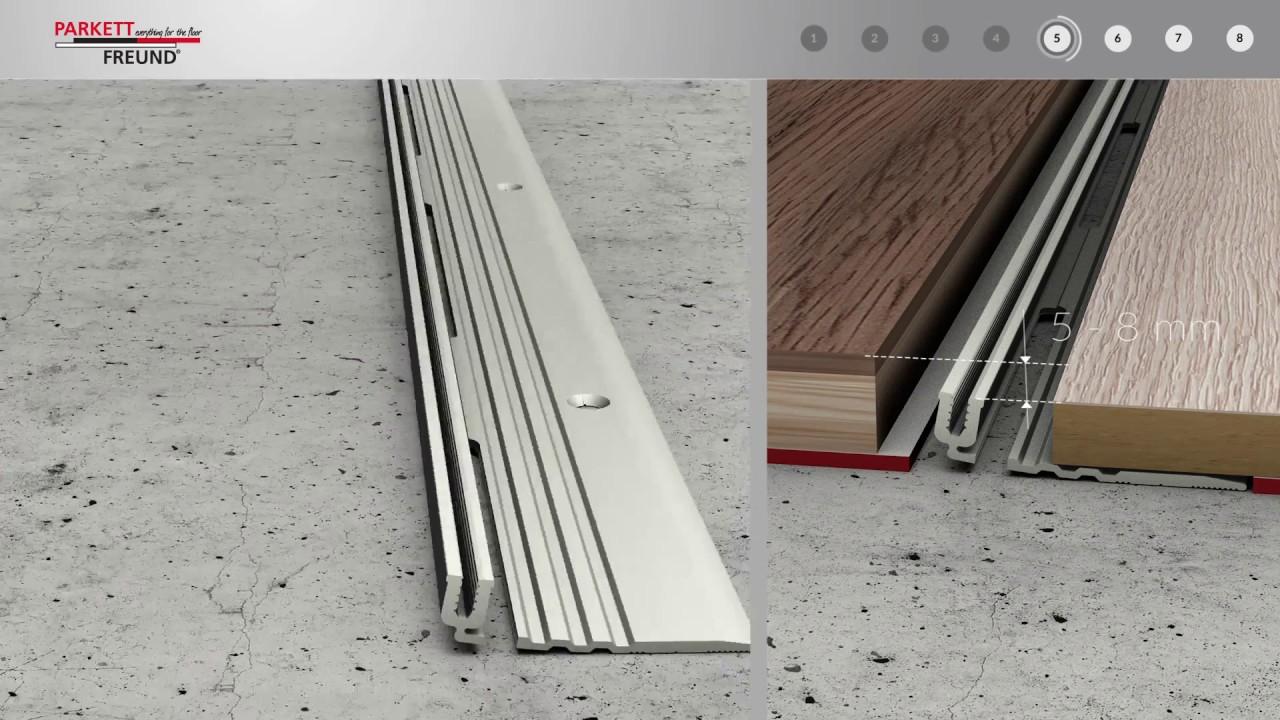 1 x ALU PROFIL Abschlussprofil 5mm gebohrt inkl L/änge: 100cm Teppichschiene Schweller Laminat Parkett /Übergangsprofil NEU Schrauben Farbe: sahara DQ-PP