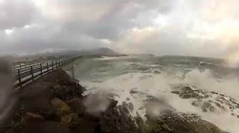 Vaarallinen tie Atlantin valtameren pitkin. Norja.
