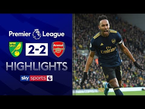 Aubameyang rescues Arsenal with brace ⚡ | Norwich 2-2 Arsenal | Premier League Highlights