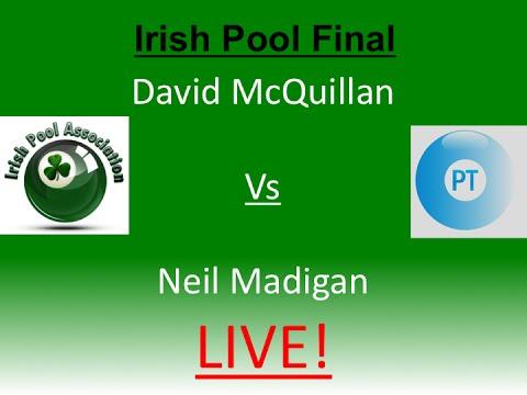 David McQuillan vs Neil Madigan - Irish Pool Final