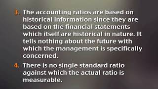 Limitations of Accounting ratio (CH-05)