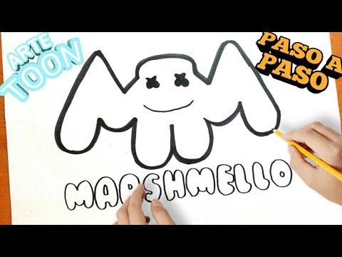 Como Dibujar El Logo De Marshmello Paso A Paso How To Draw