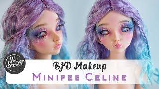 [BJD] Роспись куклы минифи Селин мейкап / фейсап [БЖД] BJD minifee Celine урок от WillStore