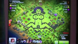 Naked girl base clash of clans over 1.3 mill loot 100% raid