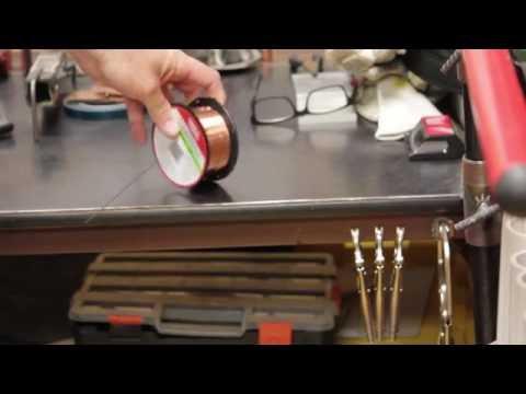 Straightening Mig Wire for TIG Welding