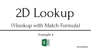 Vlookup with Match formula in Excel | Hindi