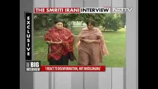 smriti irani interview with barkha dutt on 26 11 2015
