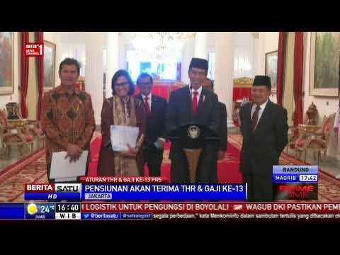 Kabar Gembira, Jokowi Teken PP THR untuk PNS, Polri, TNI, dan Pensiunan