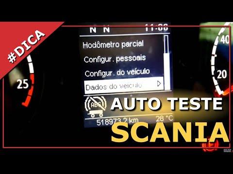 Chek lista matinal scania P360 automátizada, itens e funções do painel e auto teste