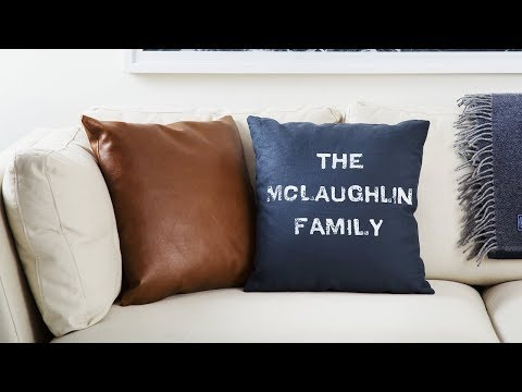Handcrafted pillows customized by you.
