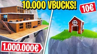 WHO THE BEST HOUSE WINS 10,000 V-BUCKS! - Fortnite ITA