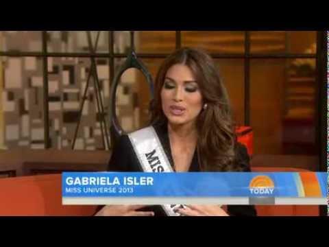 Miss Universe 2013, Maria Gabriela Isler... Entrevista en TODAY  14/11/2013