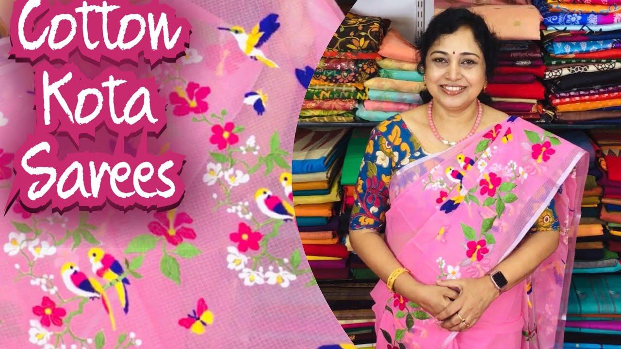 Cotton kota sarees,Surekha Selections,Vijayawada,August 4, 2021