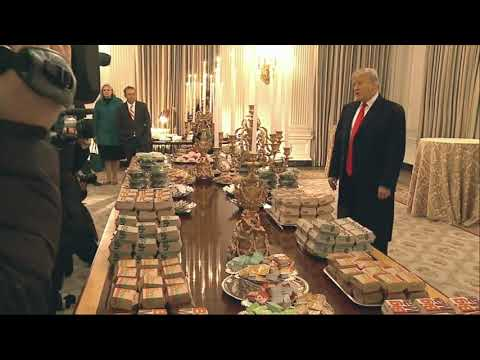 Rob and Hilary - President Trump honors Clemson Tigers with fast food buffet