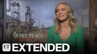 """While chatting with et canada's graeme o'neil, emily blunt reveals what it's like working alongside her husband and director john krasinski in """"a quiet place..."""