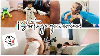 Santiago ya camina!!!❤️ Haul Tobebi👶🏻   Vlog #6 / Mamá a los 20
