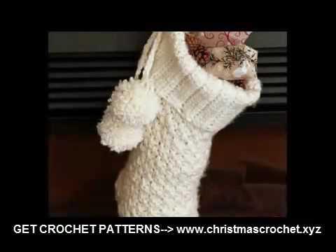 Easy Crochet Patterns Free Beginner Crochet Christmas Stocking