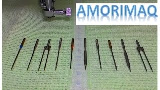 Colocando a agulha corretamente na máquina de costura e dicas importantes