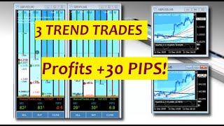 12 11 2019 Three Trend Trades Profit +30 pips Forex Day Trading Room and FibMatrix Scalping Software