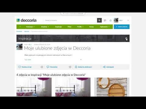 Jak edytować folder z inspiracjami w Deccoria.pl?