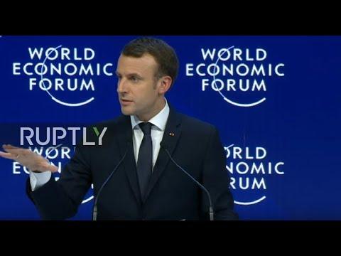 LIVE: World Economic Forum 2018: special address by Emmanuel Macron