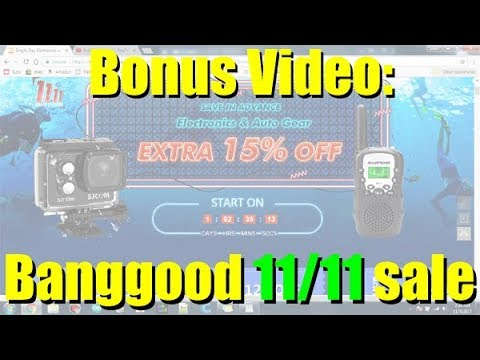 Bonus Video: 11/11 Pricestorm sale from Banggood.com