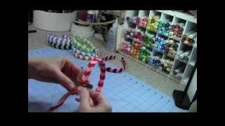 Repeat youtube video Chevron Woven Ribbon Headband Tutorial