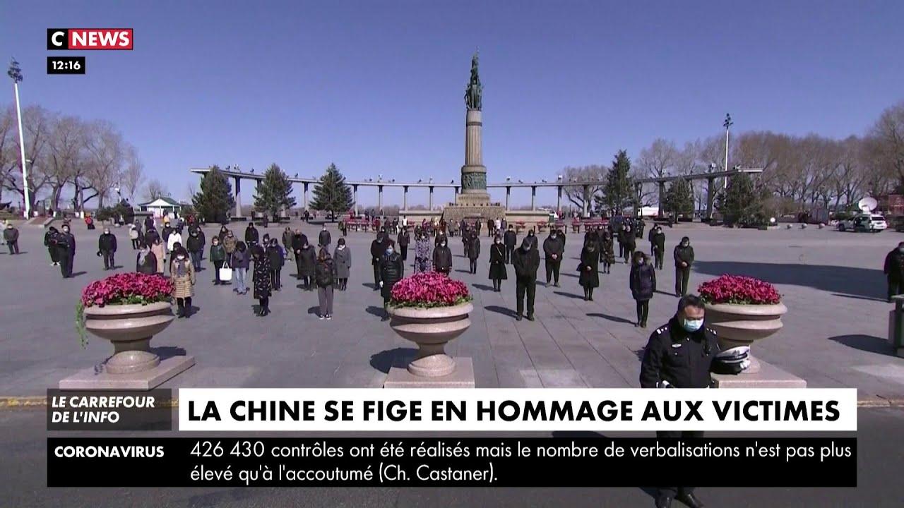 Coronavirus : la Chine se fige en hommage aux morts
