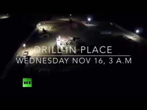 Drone captures DAPL overnight construction despite Army decision to halt work