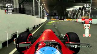 F1 2011 Gameplay Ita PC Gran Premio di Singapore Gara#13 -Fino all