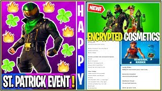 *NEW* Fortnite Update: Secret Encrypted Cosmetics Found, ST. Patrick's Event Tomorrow, & Much More!