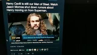 Jason Momoa Says Henry Cavill is Not Leaving Superman