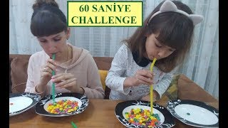 1 DAKİKA CHALLENGE - 60 SANİYE CHALLENGE  ELİF LERA YARIŞIYOR
