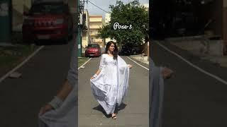 Candid Photo Poses Anarkali Suit Pose YouTube Shorts Santoshi Megharaj